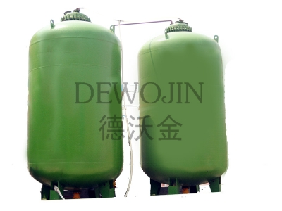 Large vertical glass lined storage tank