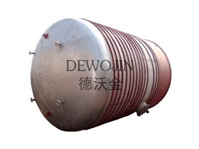 50m³ stainless steel 316L tanks with coi